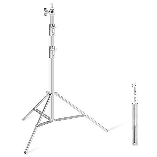 Stainless Steel Light Stand 110in/2.8m Heavy Duty Light Stand for Studio Softbox, Monolight and Other Photographic Equipment