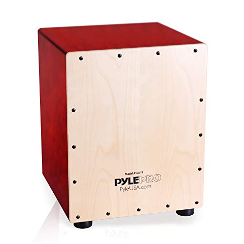 Pyle Stringed Jam Cajon - Wooden Cajon Percussion Box. (PCJD15)