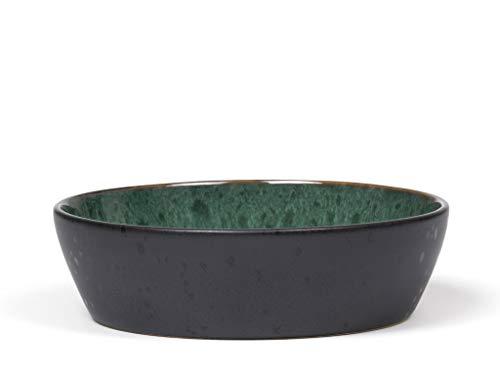 BITZ Suppenschale, Suppenschüssel aus Steingut, 18 cm im Durchmesser, schwarz/grün
