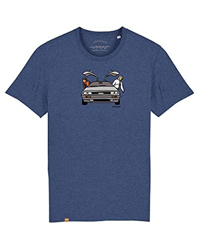 Cencibel Smart Casual Camiseta Callate La Boca Azul Regreso al Futuro (XL)