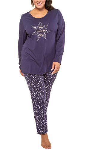 Ulla Popken Pyjama, Sterne Pijama para Mujer