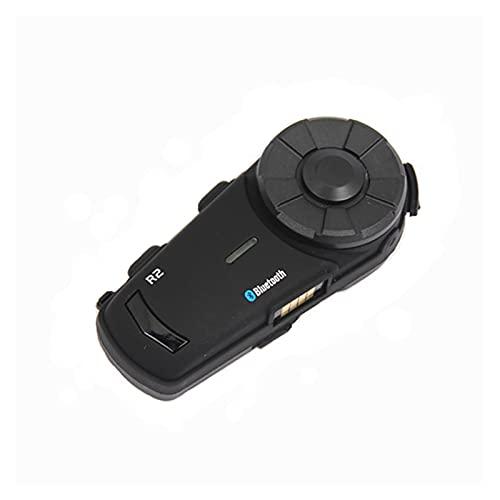 R2 BT Bluetooth Motorcycle Casco Intercom Auriculares Interphone con Radio FM (Color : A)