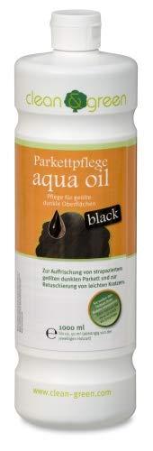 clean & green Spezial-Parkettpflege Aqua Oil Black, 1 Liter