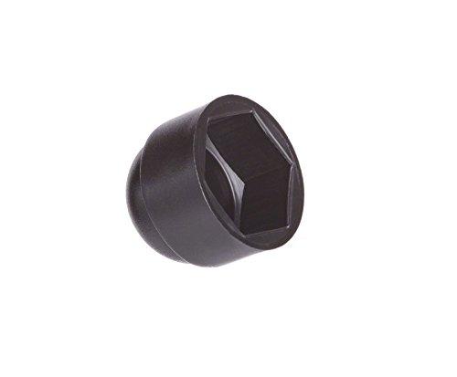 Schutzkappen für Schrauben M8 (für Schlüssel 13) Schwarz | 25 Stück | Schraubenkappen Stopfen Rohrkappen