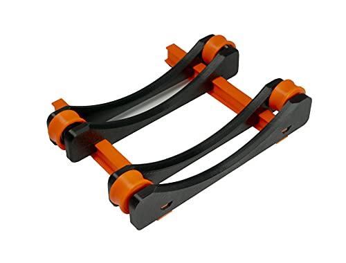 3IDEE 3D-Drucker Filamentabroller, Filamenthalter - inkl. Kugellager - verstellbar, aus PETG - (Orange)