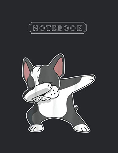 Notebook: French Bulldog Dabbing Frenchie Dog Dab Dance Notebook 120 Pages Large Size 8.5'' x 11'' White Paper Blank Journal with Black Cover Perfect Size And Small Gifts