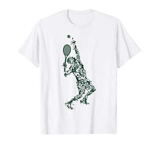 Camiseta de tenis - Posiciones de jugador Raqueta en dibujo Camiseta