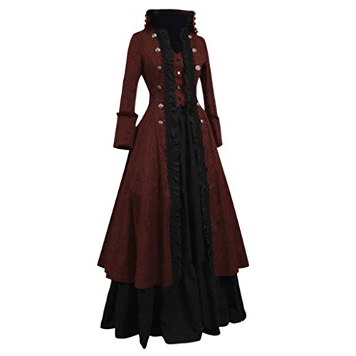 Best Bargain WatFY Skirt Women Vintage Gown Fashion Cosplay Party Dress Evening Formal Long Skirt Pr...