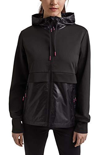 ESPRIT Sports Sweat Jacket Functional Giacchetto per Mezze Stagioni, 001, L Donna