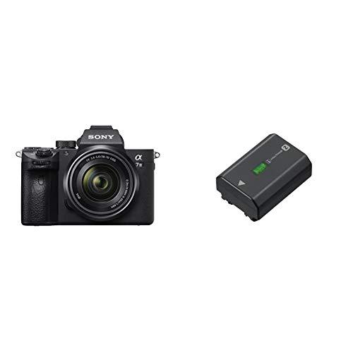 Sony Alpha 7 III | Spiegellose Vollformat-Kamera mit Sony 28-70 mm f/3.5-5.6 Zoom-Objektiv (Schneller 0,02s AF) & NP-FZ100 Akku (InfoLITHIUM-Akku Z-Serie, 7,2V/16,4Wh (2280 mAh)) schwarz