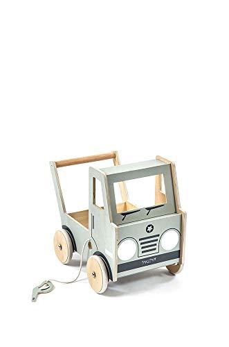 Smallstuff - Puppenwagen, Lauflernwagen - Truck, Auto - Holz - ca. 41 x 48 cm