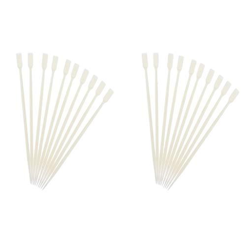 20 Piezas De Doble Cara Pestañas Onda Que Se Encrespa Perming Rizador Palos De Caña De Plástico Pegamento De Pestañas Cucharas
