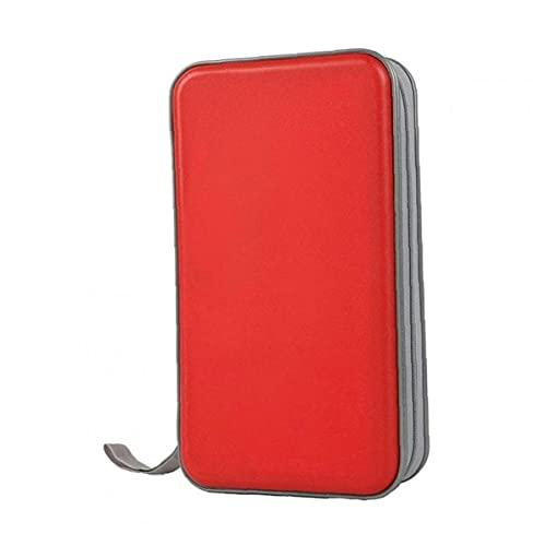 Porta cd cd Case Portafoglio DVD Binder DVD Organizer Borsa di stoccaggio Hard 80 Capacità Portable Red Holder