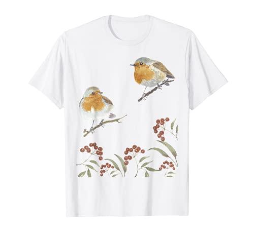 Rotkehlchen Vogel Tshirt 4