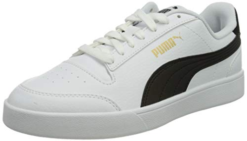 PUMA Shuffle, Scarpe da Ginnastica Unisex-Adulto, Bianco (White Black Team Gold), 41 EU