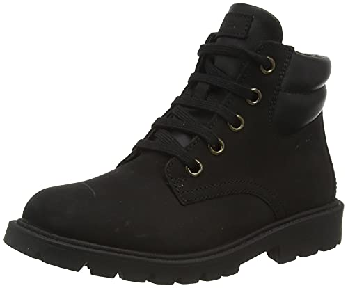 Geox Boy's Classic Boots Ankle, Black, 10.5 Little Kid