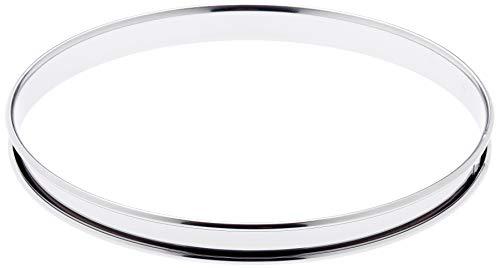 De Buyer, Anello per torte con bordi arrotondati, in acciaio Inox, altezza 2 cm, diametro 22 cm