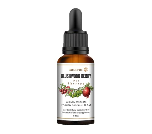 Aussie Pure Pet Therapy Blushwood Berry Tincture - 60ml - Maximum Strength - Lab Tested and Certified - Gentle, Oral and Topical Alcohol-Free Formula - Immune and Cell Support