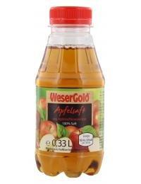 Wesergold Apfelsaft Einzelflasche