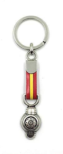 FJR-ArtPiel - Llavero bandera de España con montera - Alta Calidad