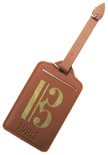 Music Office 旅行鞄 スーツケース ネームタグ 音楽モチーフ ミュージックギフト (アルト記号(C-CLEF, ハ音記号), ネームタグのみ)