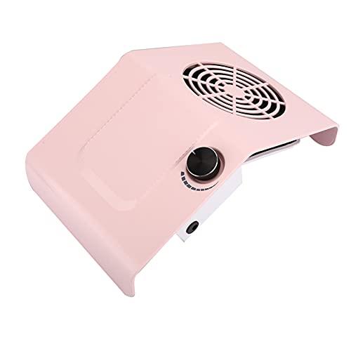 Uxsiya Aspirador de uñas, Simple y Hermoso, diseño de ventilación Redonda, colector de succión de(Pink, European regulations)