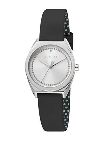 Esprit ES1L100L0015 Slice Dot Uhr Damenuhr Lederarmband 3 bar Analog Schwarz