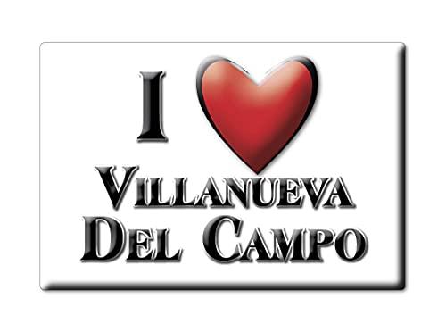 Enjoymagnets Villanueva del Campo (ZA) Souvenir IMANES DE Nevera ESPAÑA Castilla Y...