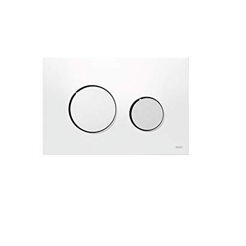 TECE Loop WC Betätigungsplatte 9.240.627 weiß/Chrom glänzend, Blanc, Touches Chromé Brillant, 17 cm