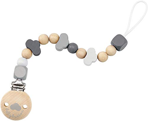 Selecta 64006 Wolkenglück, Schnullerkette - bellybutton, grau, 21 cm