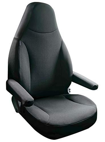 Sitzbezug + Armlehnenbezug Holiday schwarz oder beige Fiat Ducato Peugeot Boxer Citroen Jumper Wohnmobil Bezug (schwarz)