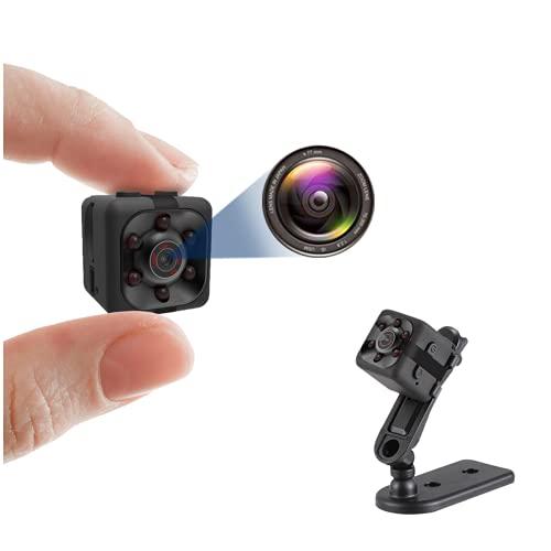 Mini cámara 1080P, Niñera Cam Full HD con activación de movimiento de visión nocturna para cámaras de seguridad cubiertas interiores y exteriores (DHX-SQ11)