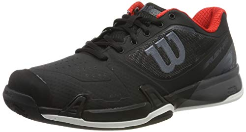 Wilson Rush PRO 2.5 2021 CC, Scarpe da Tennis Uomo, Nero (Black/Ebony Red), 41 1/3 EU