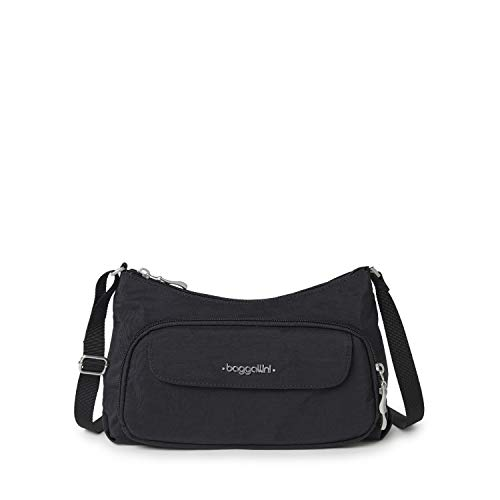 Baggallini unisex-adult Everyday Bagg ,Black/Sand ,One Size