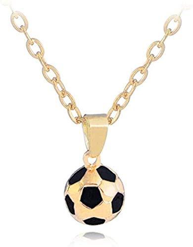 AOAOTOTQ Co.,ltd Collar 3D Fútbol Collares Bola Movimiento Colgante Collar Deporte Bola Joyas Hombres Niño Niños Regalo Colgante Collar