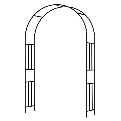 ZBYL Arco de Jardin, Arco para Enredaderas, Duradero Soporte para Rosas, Pérgola De Jardín, Patio De Césped Al Aire Libre Varios Tamaños, Negro