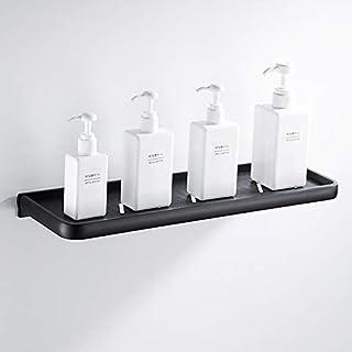Aparador baño Negro Colgante una Capa estantes para paletas estantes de baño Minimalistas