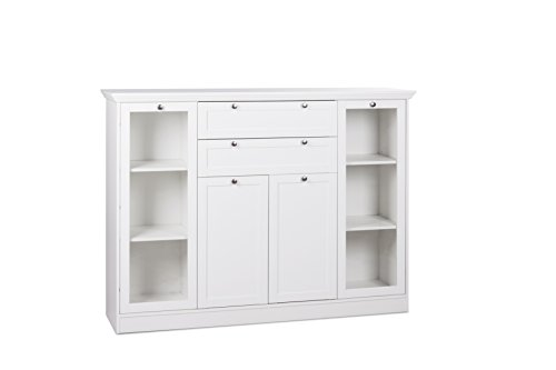 Intertrade 001793 Highboard Ina 53, 160 x 120 x 40 cm, dekor weiß