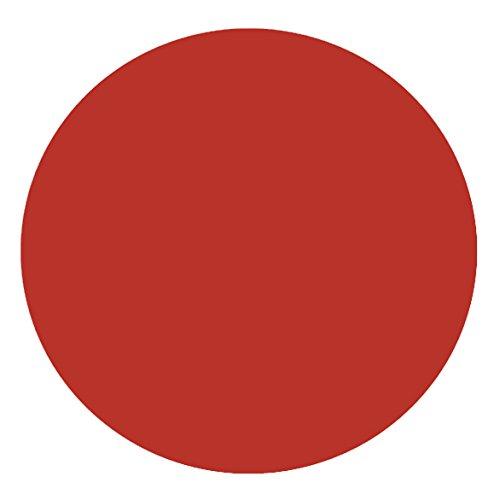 DecoHomeTextil Lacktischdecke Tischdecke Wachstuch Rund Oval Größe & Farbe wählbar Rund ca. 140 cm Rot Wachstischdecke Wachstuchtischdecke Gartentischdecke Lebensmittelecht