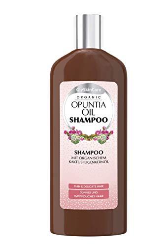 GlySkinCare Shampoo Mit Organischem Kaktusfeigenkernöl , Shampoo 250 ml, Shampoo Für Dünnes und empfindliches Haar. Shampoo mit Blumenduft, Haarshampoo by Equalan Pharma.