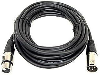 Omnialaser - Xlr 20m cable dmx xlr de cañón h/m, 20 m, especialmente adecuado para la conexión de efectos de luz, las unidades de control dmx, cabezas móviles y dispositivos maestro/esclavo