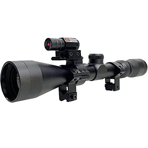Visor telescópico 3-9x40 táctico | Mira Deportiva para carabinas y escopetas de Aire comprimido (balines) y Airsoft con láser