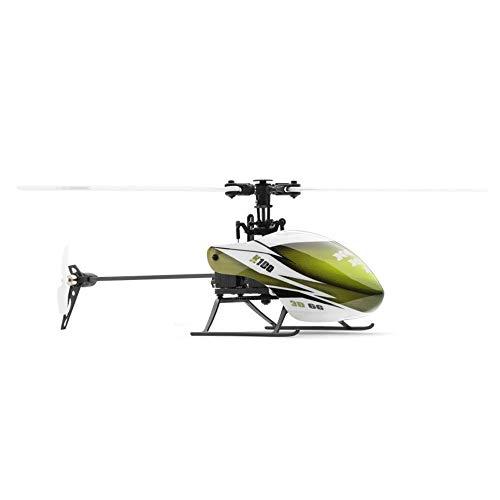 DBXMFZW 2.4G Control Remoto inalámbrico Aviones de 6 Canales RC Aircraft Gyro RC Helicóptero Propulsor Single Ailaronless RC Avión Regalo para Niño Adulto Profesional, Batería Recargable, RTF