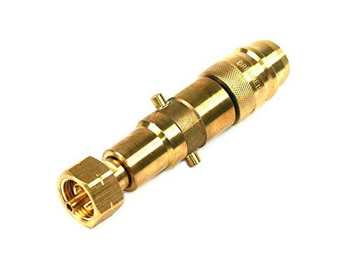Drehmeister 2en1 Euronozzle y Adaptador de depósito de Bayoneta con Boquilla integrada para el llenado de Botellas de Gas (11kg, 33kg) con Rosca W21.8 L (KLF)