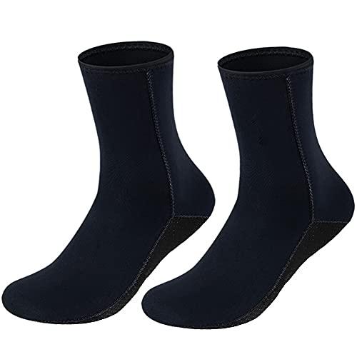 3mm Thicken Wetsuit Socks Thermal Neoprene Socks Anti-slip Diving Socks Boots for Men Women Diving Snorkeling Swimming Surfing Sailing Kayaking Water Fins socks