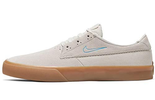 Nike Sb Shane Bv0657-101 - Zapatillas de skate para hombre, Blanco (Blanco/Láser Azul-blanco-goma Marrón Claro), 44 EU