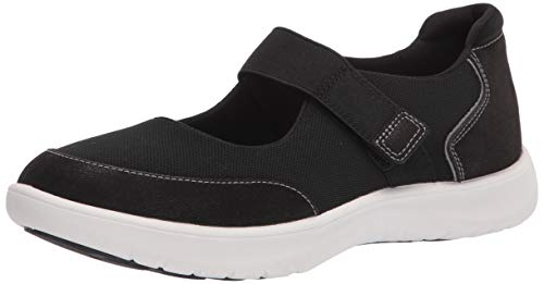 Clarks womens Adella West Sneaker, Black Textile, 11 Wide US