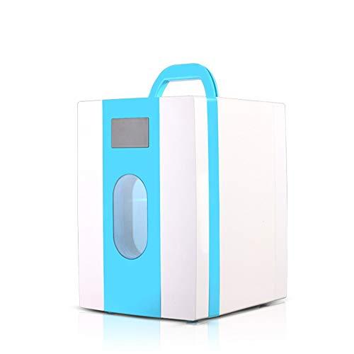 DKEE Mini Nevera Refrigerador De Coche 10L. Mini Refrigerador del Hogar. Dormitorio De Estudiantes. Mascarilla Cosmética Refrigerador De Mantenimiento Fresco. (Color : Blue)
