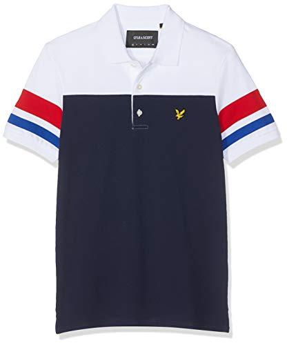 Lyle & Scott Herren Contrast Band Polo Shirt Poloshirt, Blau (Navy Z99), X-Large