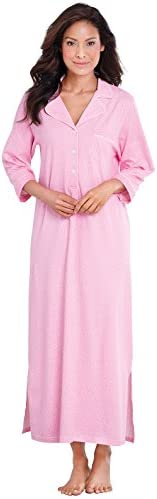 PajamaGram Womens Nightgown So Soft Long Nightgowns for Women Pink M 8 10 product image